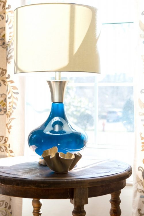 peacock blue lamp home goods