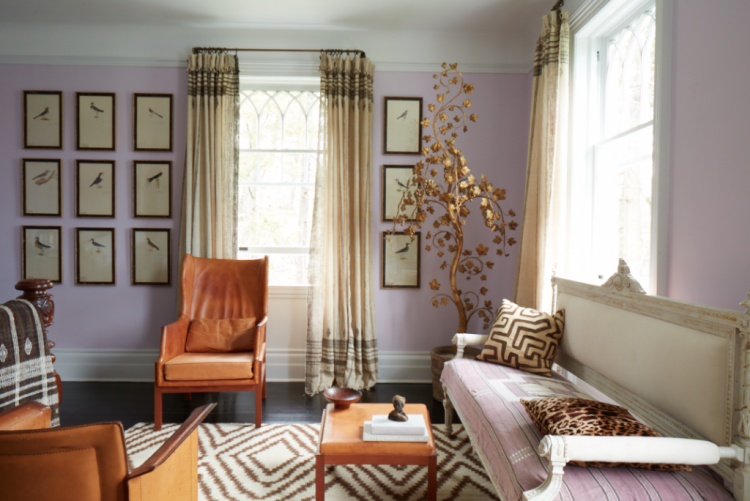 windsor smith living room lavender