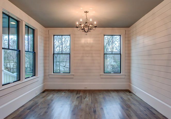 The reasons you should use a black paint color in your for Images of rooms with shiplap