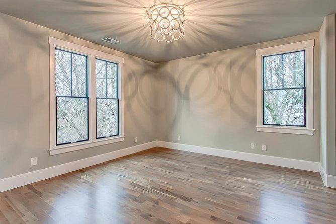 gray paint color with black windows