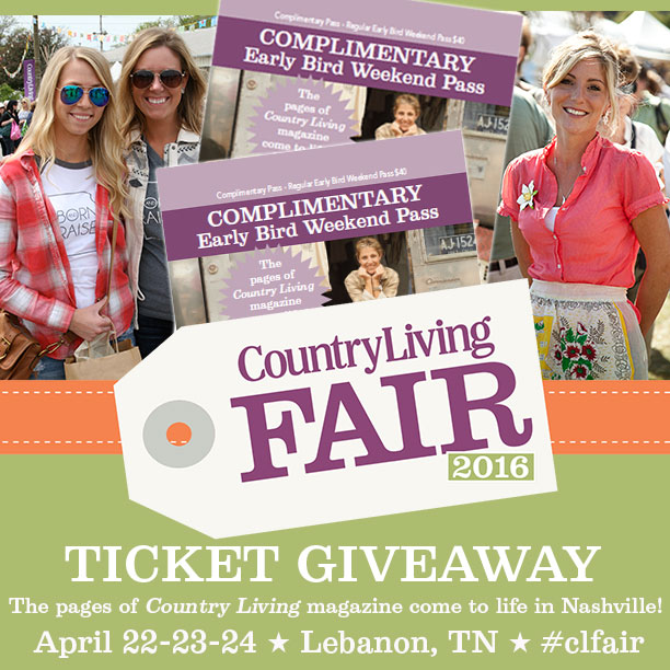2016 Country Living Fair Giveaway (and What I Want This Year)