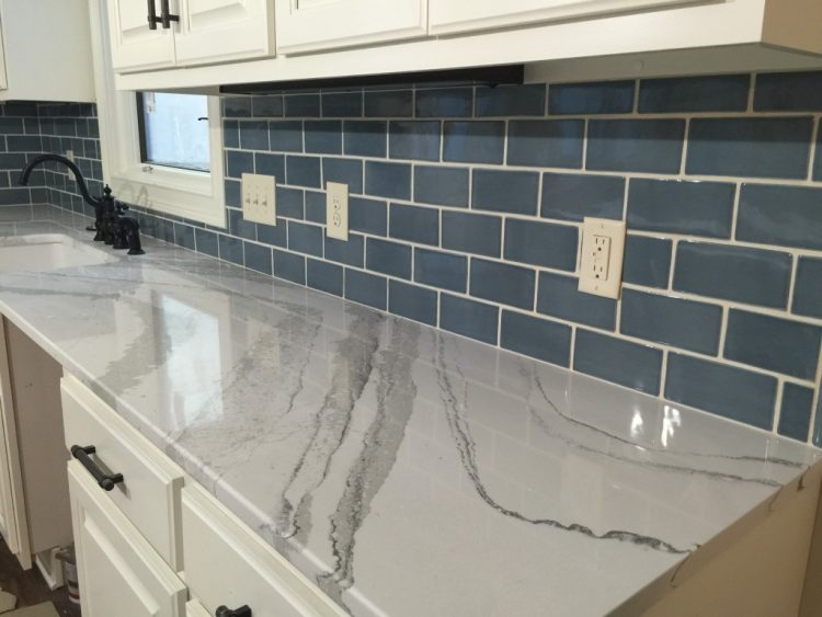 beautiful veining in brittannica quartz countertops