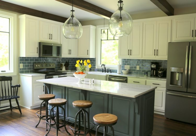 britannica in a modern farmhouse kitchen