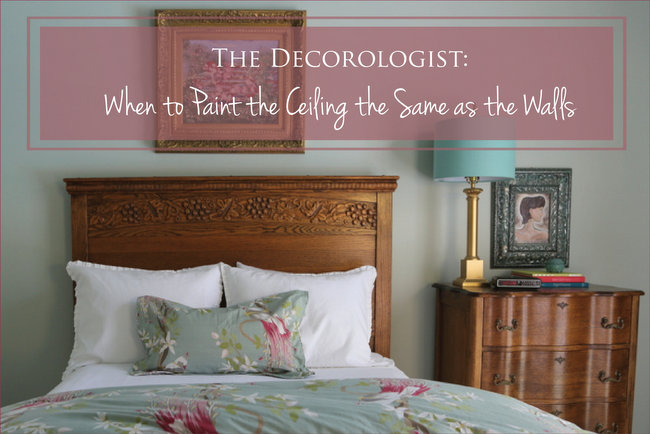 Paint The Ceiling The Same As The Wall Color The Decorologist