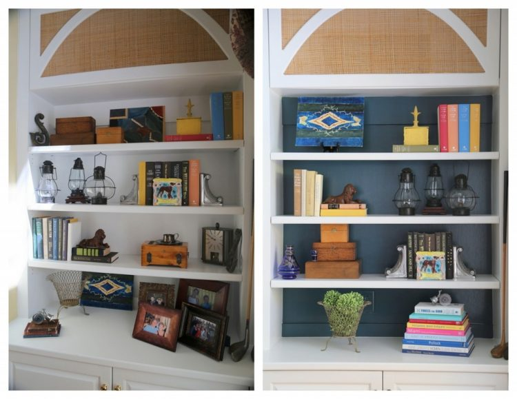 bookcase before and after