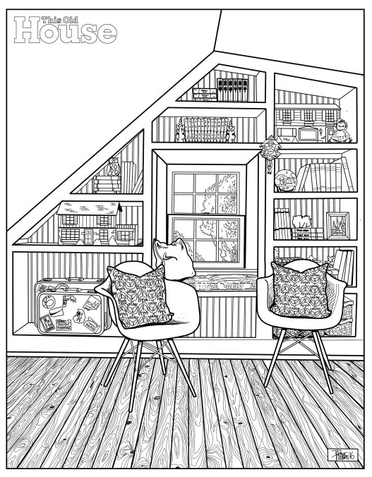 downloadable decorologist coloring page