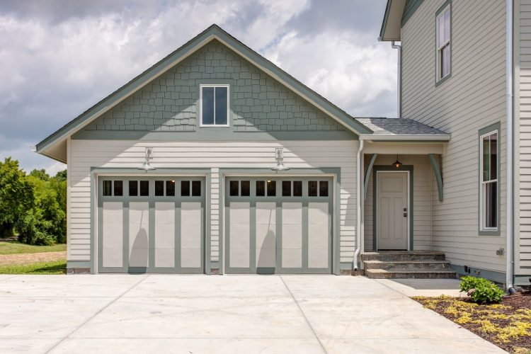paneled carriage garage doors