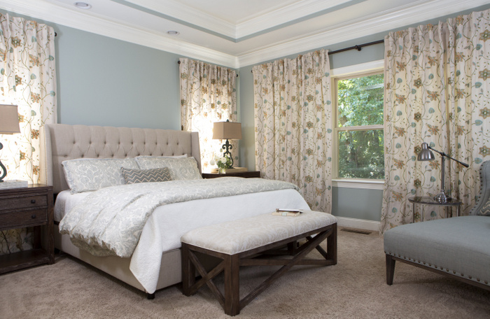 designer bedroom by the decorologist