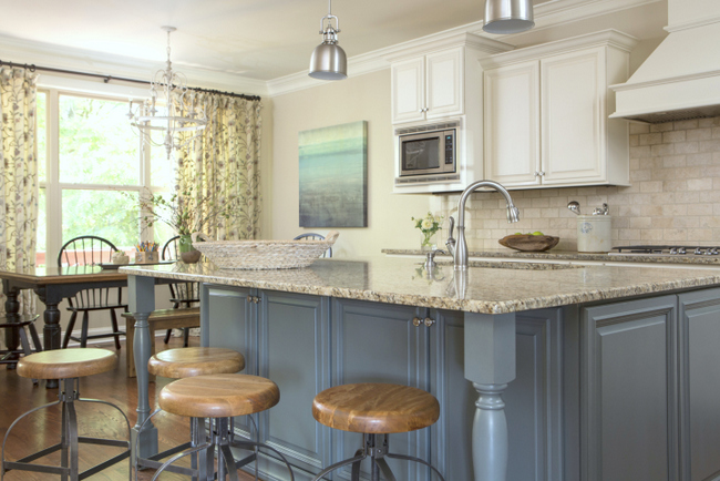 blue island designer kitchen
