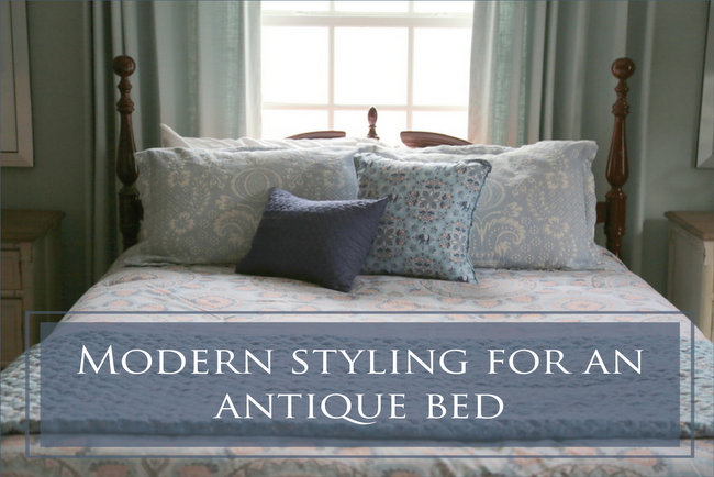 Modern Styling for An Antique Bed