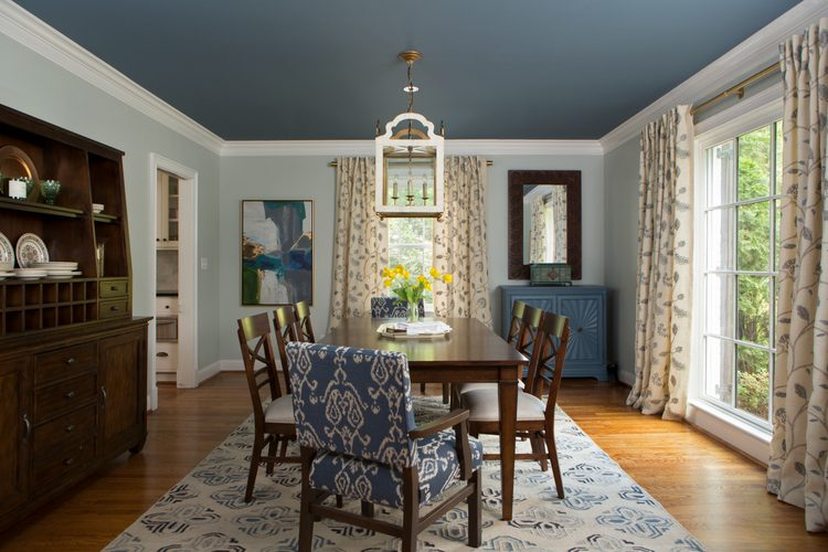 blue dining room paint color by The Decorologist, Kristie Barnett