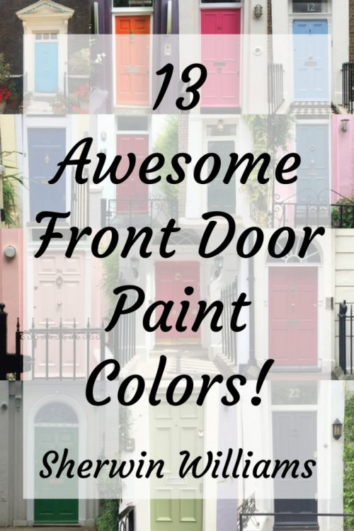 13 awesome front door paint colors from sherwin-williams