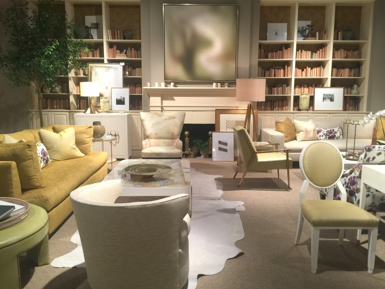 Yellow Color Trend In Century Furniture Showroom At High Point Furniture  Market