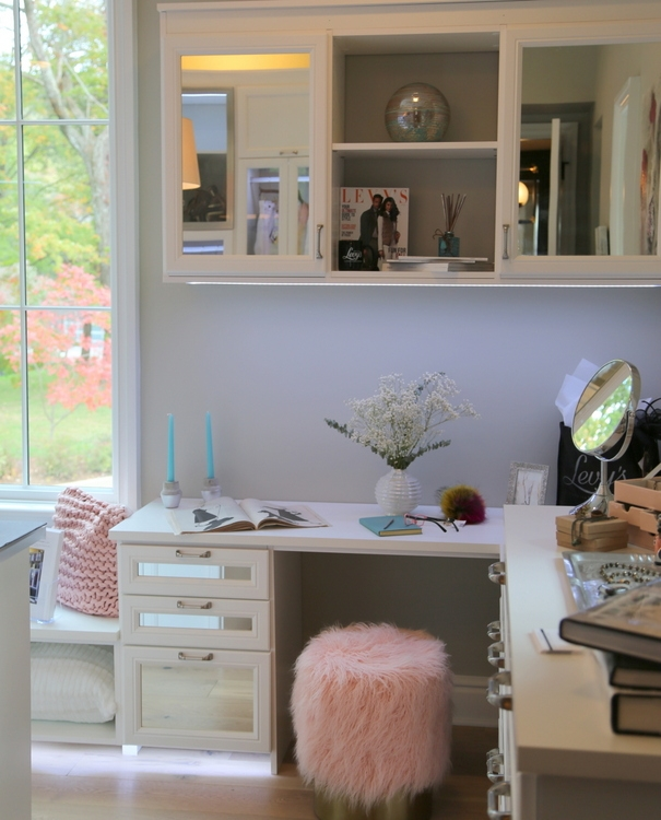 california closets nashville for omore designer showhouse with blush pink accents