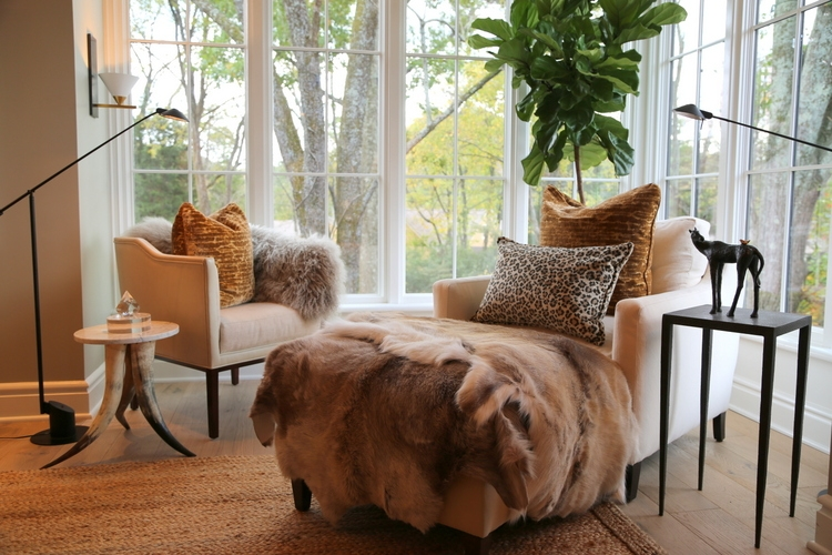 animal fur hides horns design trends at omore designer showhouse lila franks