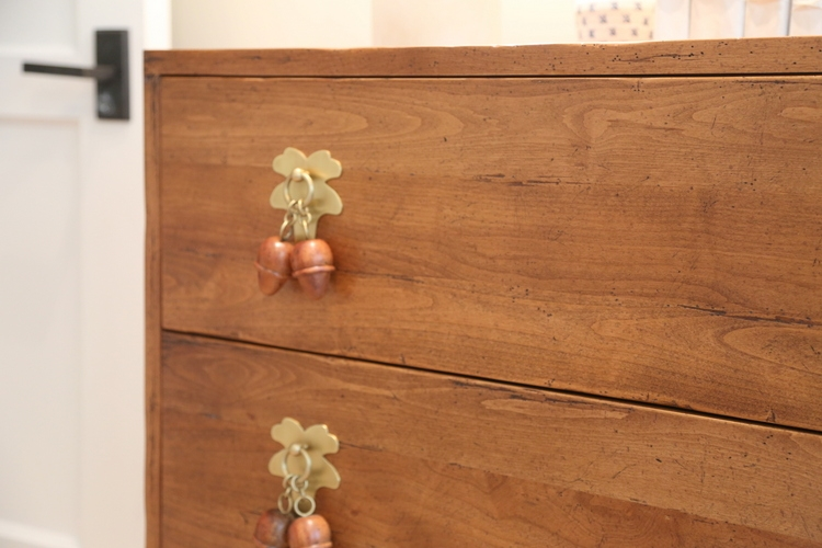 acorn and gold drawer hardware pulls