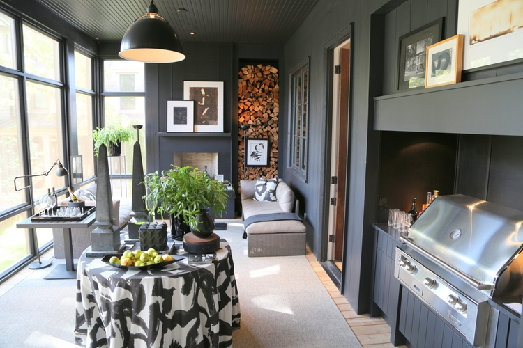 black outdoor porch robert brown for omore designer showhouse