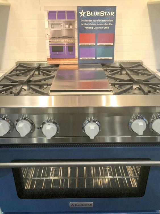 Blue Star Cooking stove range in dark blue