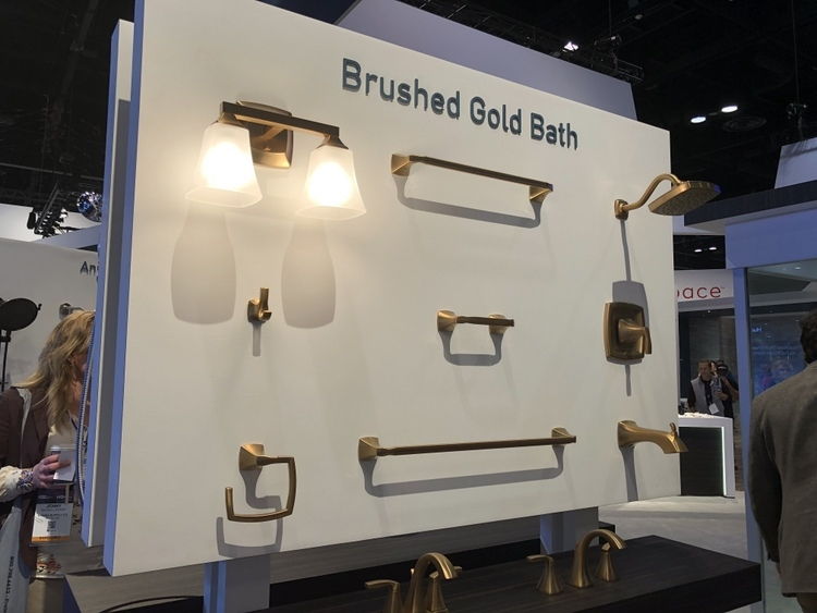 brushed gold bath fixtures hardware at 2018 KBIS