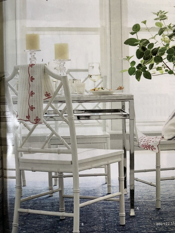 white rattan chairs