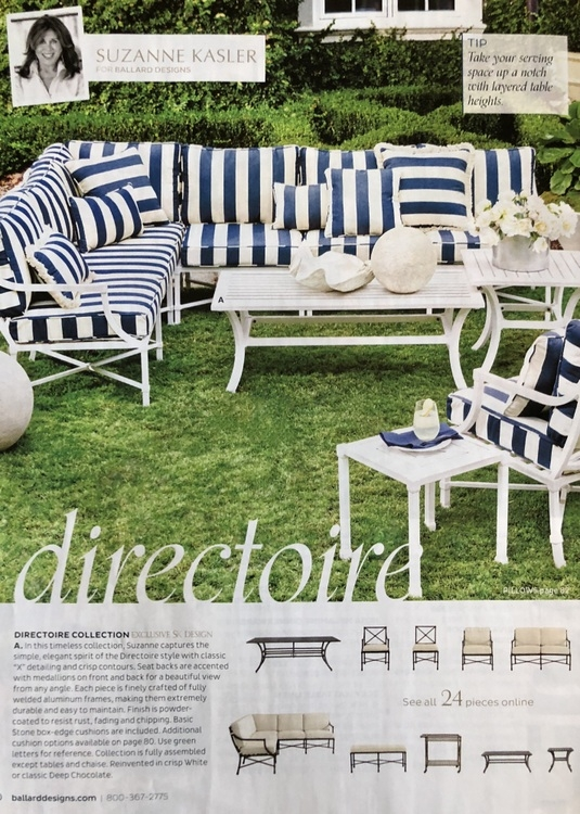 navy blue cabana stripes