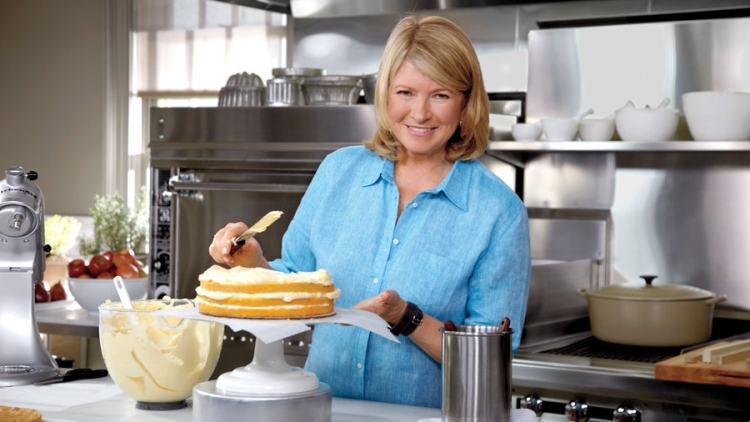 Martha Stewart and Vermont Danby white marble countertops in kitchen