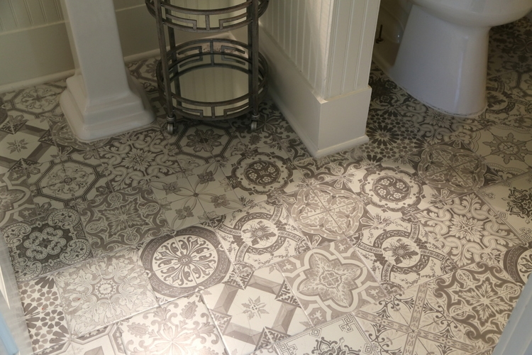Marrakesh encaustic tile floor by Kristie Barnett, The Decorologist