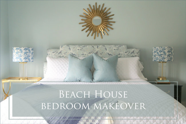 Beachy Bedroom Makeover – and Why You Need Oversized Bedding