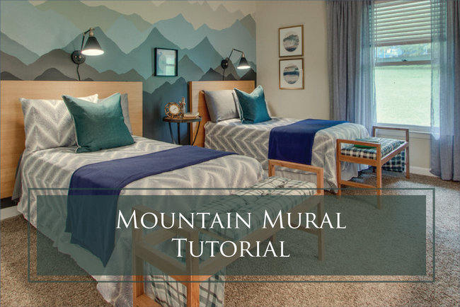 Mountain Mural Tutorial in a Boys' Bedroom