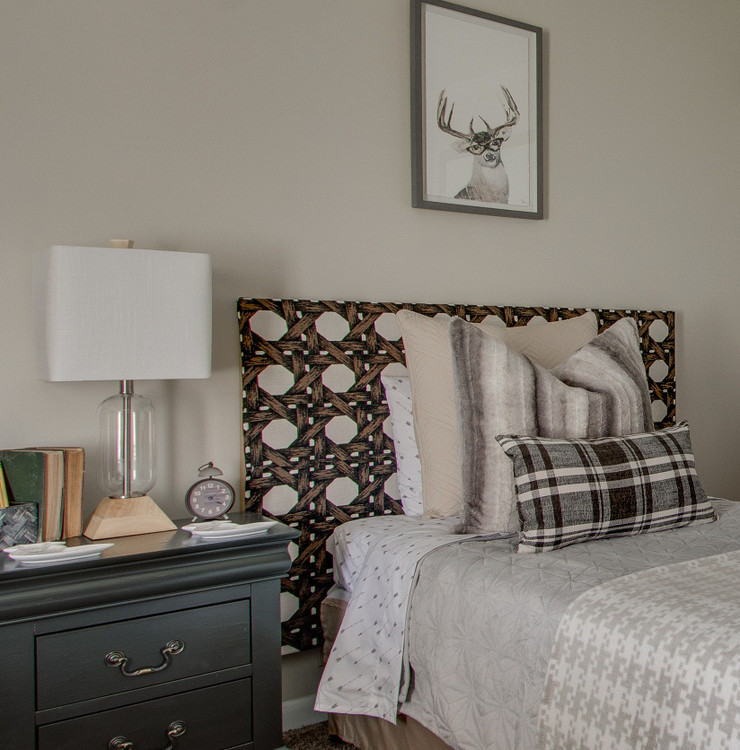 fabric covered headboard
