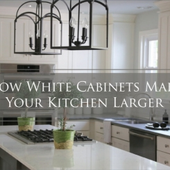 How White Kitchen Cabinets Make Your Kitchen Larger