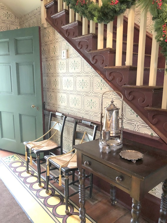 James K Polk home interior