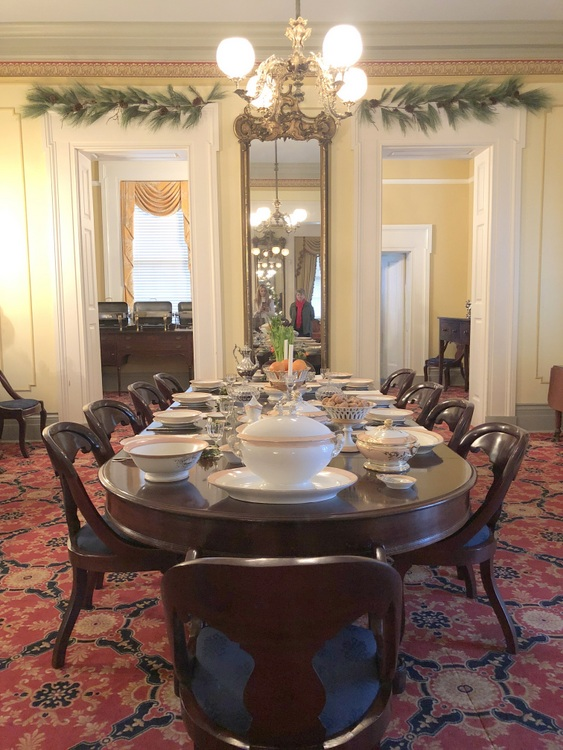 Rippavilla Mansion dining room