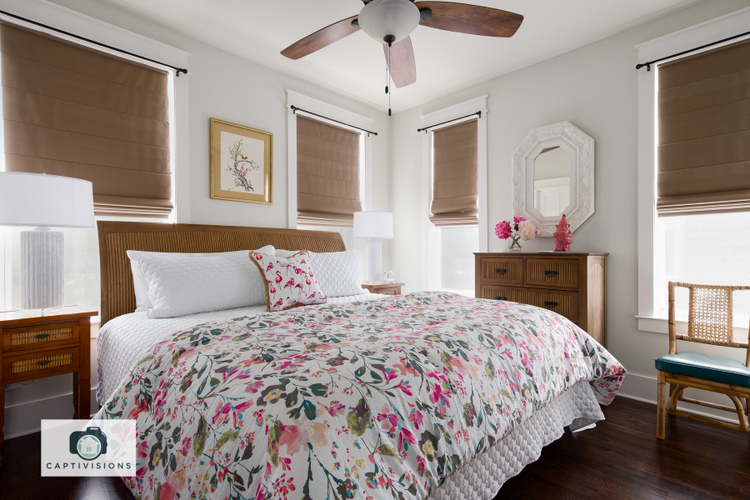 floral bedding in seagrove beach vacation rental