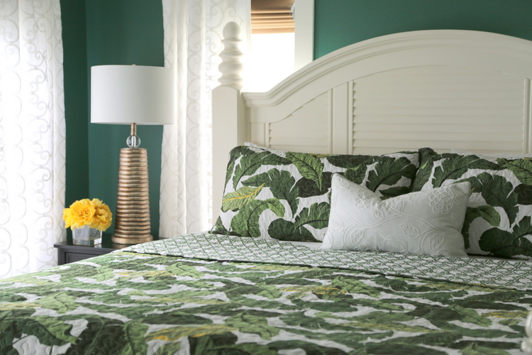 banana leaf bedroom makeover by the decorologist