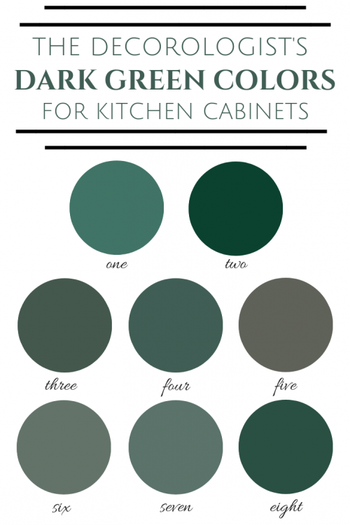 the 2019 best dark greens for kitchen cabinets the decorologist. Black Bedroom Furniture Sets. Home Design Ideas