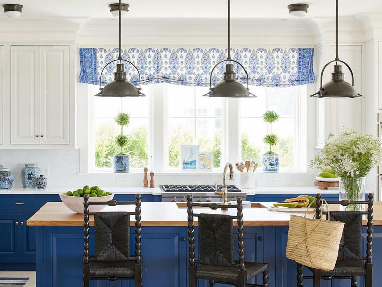 royal blue kitchen cabinets with lovely kitchen photo styling