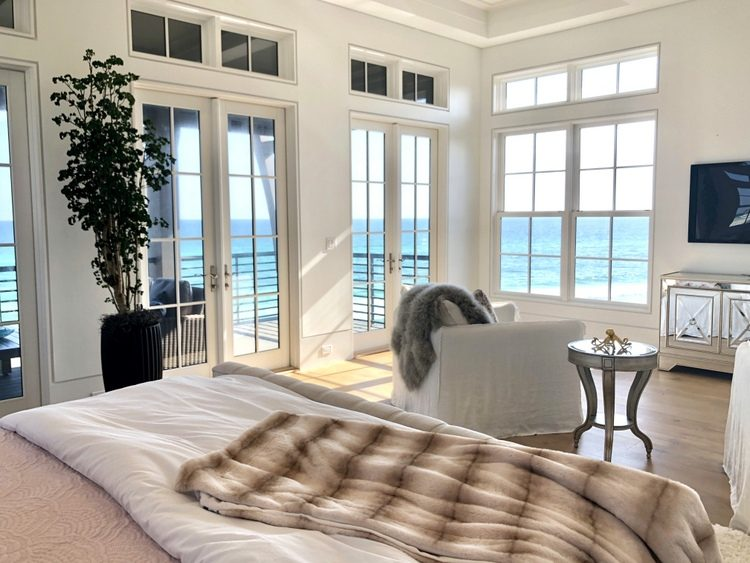 luxury staging by Design & Dwell Homes with ocean view