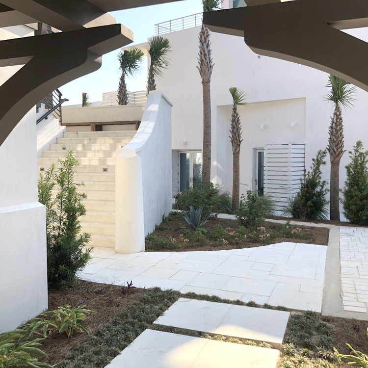 white stucco exterior