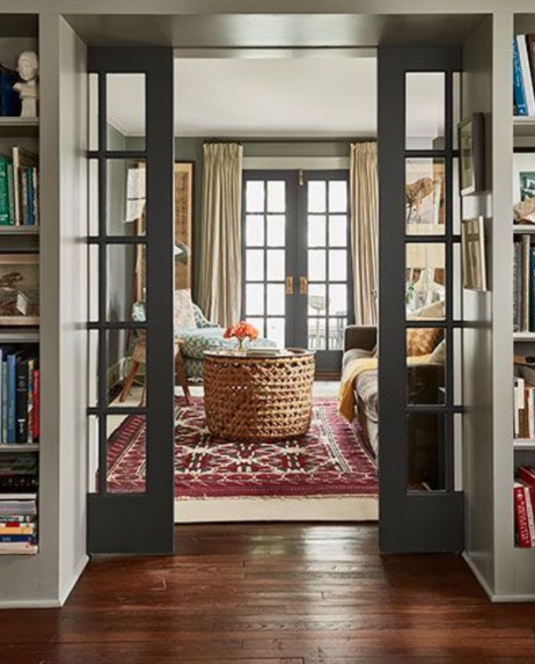 pocket door in historic home