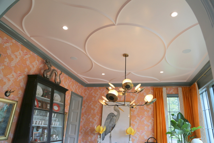 custom ceiling design by Castle Homes in the House Beautiful Whole Home Concept House