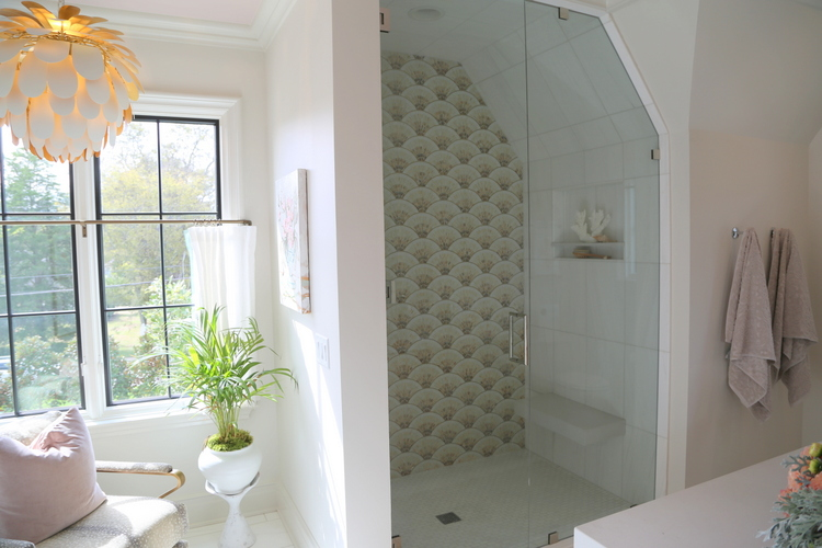 shower accent tile wall