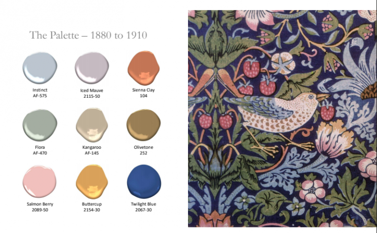 1880-1910 Paint Colors of the Industrial Revolution by Benjamin Moore