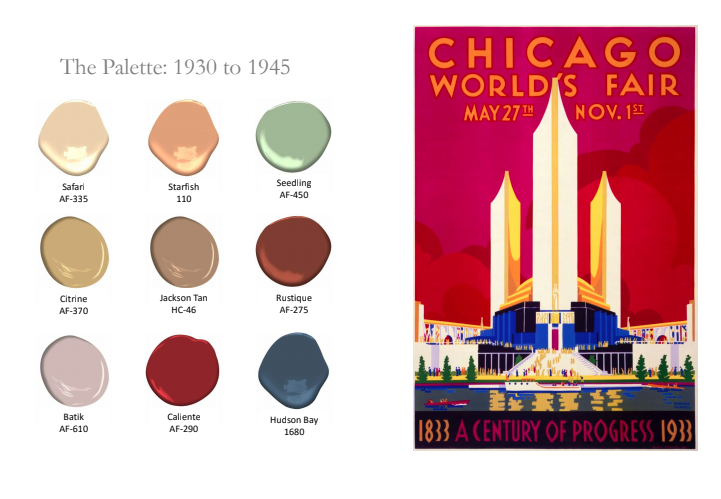 1930-1945 History of Paint Color by Benjamin Moore