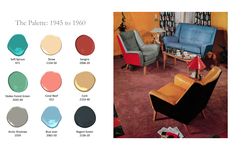 1945-1960 History of Paint Colors by Benjamin Moore
