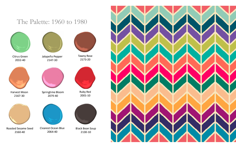 1960-1980 History of Paint Color by Benjamin Moore