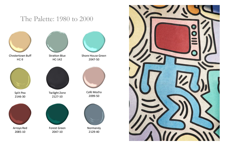 1980-2000 History of Paint Color by Benjamin Moore