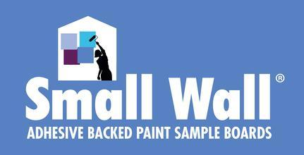 small wall paint sample boards