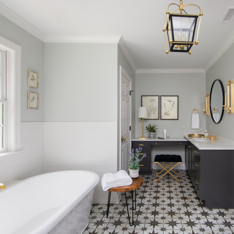 classic bathroom design by Kristie Barnett, The Decorologist