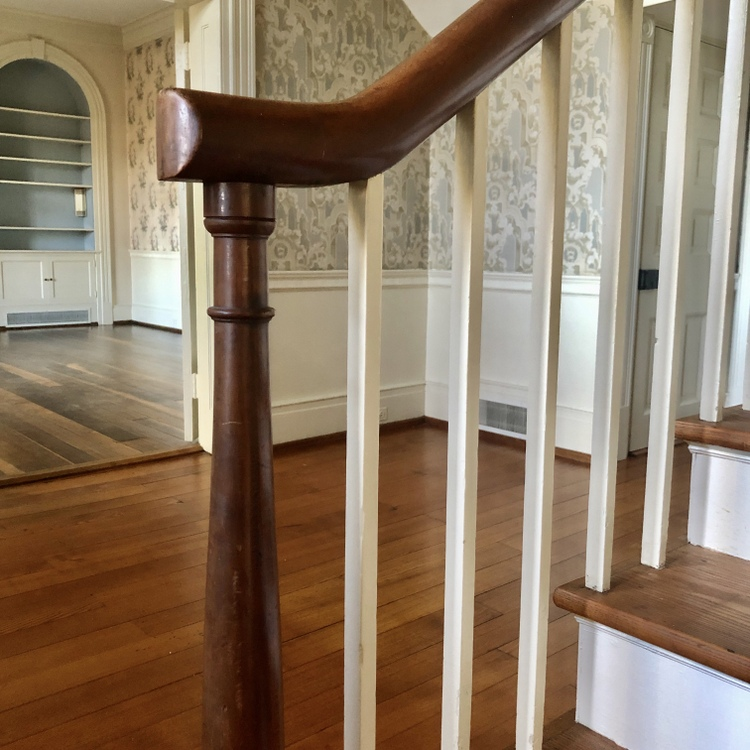 federal style staircase bannister handrail